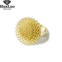 HUALUO Fashion Jewelry Wholesale,Korean style Classic Dandelion Sunflower Ring,Adjustable Free Shipping R137  R138