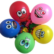 10pcs 12 inches Globos Smile Latex Balloons Inflatable classic Toys Air Ballons Wedding Decoration happy Birthday Party Supplies(China)