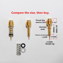 (Free shipping & 2PCS fuel ratio adjusting screw)Motorcycle carburetor Mikuni the carb air screw For VM22 Bandit250 GSF250 GJ74A