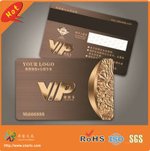 new! high quality special high-co magnetic strip panel plastic vip card printing(China)