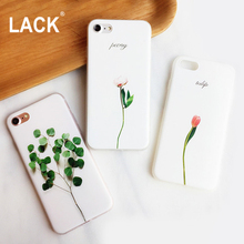 LACK 3D Relief Flower Painting Phone Cases For iphone 6 Case Fashion Green Plants Leaf Leaves Cover For iphone 6 6s 7 Plus Coque