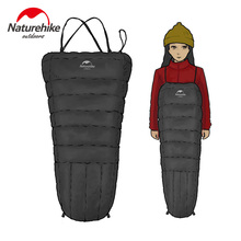 Naturehike Mini Half Chest Strap Duck Down Sleeping Bag Outdoor Camping Winter Down Mummy Sleeping Bag For Women Men about 350g(China)