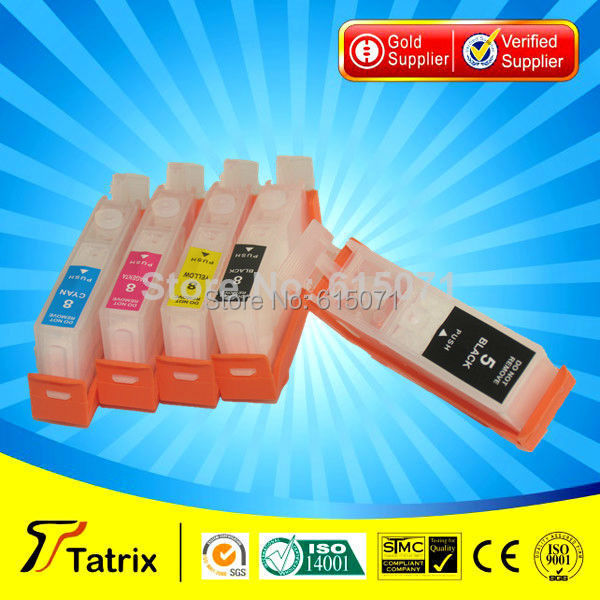 TC-8 refillable CLI-8 Ink Cartridge for Canon PIXMA iP 6600D 6700D MP 950 960 970 Pro 9000<br><br>Aliexpress