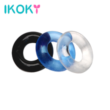 Buy IKOKY Sex Products Silicone Delay Ejaculation Cock Ring Penis Ring Sex toys Men Male Chastity Penis Sleeve 3 pcs/set