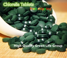 Export level Organic Broken Cell Wall Chlorella Tablets rich of chlorophyll (250mg Per Tablet, Pack of 3000) free shipping