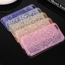 Phone Cases for Apple iPhone 5 5s 6 6s Plus Case Transparent Diamond Design TPU Silicon Covers Shell Capa Phone Accessorie