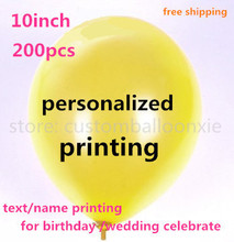 200pcs personalized print ballon customized balloon with letters text printing for Wedding birthday party(China)