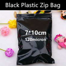 Wholesale 100pcs 7cm*10cm*120micron Black Plastic Zip Lock Packaging Bag Avoid Light for Products Storage Mailing Bag
