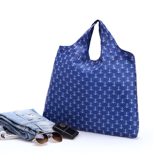 Small Anchor Blue Custom Shopping Bag Promotional Grocery Tote Bag