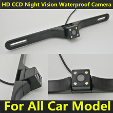 Universal License plate frame Car Rear View camera back up Number Rearview Reverse Reversing Camera(China)