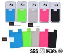 200pcs/Lot CustomIZED your Logo on Mobile silicone wallet Card Holder  with Free shipping by FEDEX
