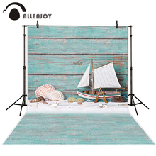 Allenjoy baby backdrop Boat conch sea urchin toys children wood board photocall Photography scenarios for photo studio(China)