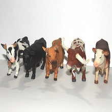 solid eco-friendly plastic animal model toy figure 5pcs/set Cows Bulls figure