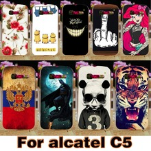 Soft TPU Hard Plastic Phone Case For Alcatel OneTouch Pop C5 5036 4.5 inch (one touch pop c5 OT5036 5036D) Cover Housing