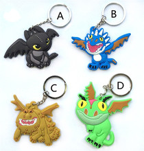 One Piece PVC Toothless Night Fury Deadly Nadder Gronckle Terrible Terror Keychain Toys How To Train Your Dragon Pedant Toy