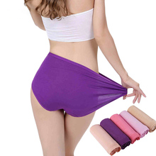 Buy Women Panties Bamboo Fiber Seamless Underwear Candy Color Culotte Comfortable Big Size Lingerie Ladies Mid Waist Underwear