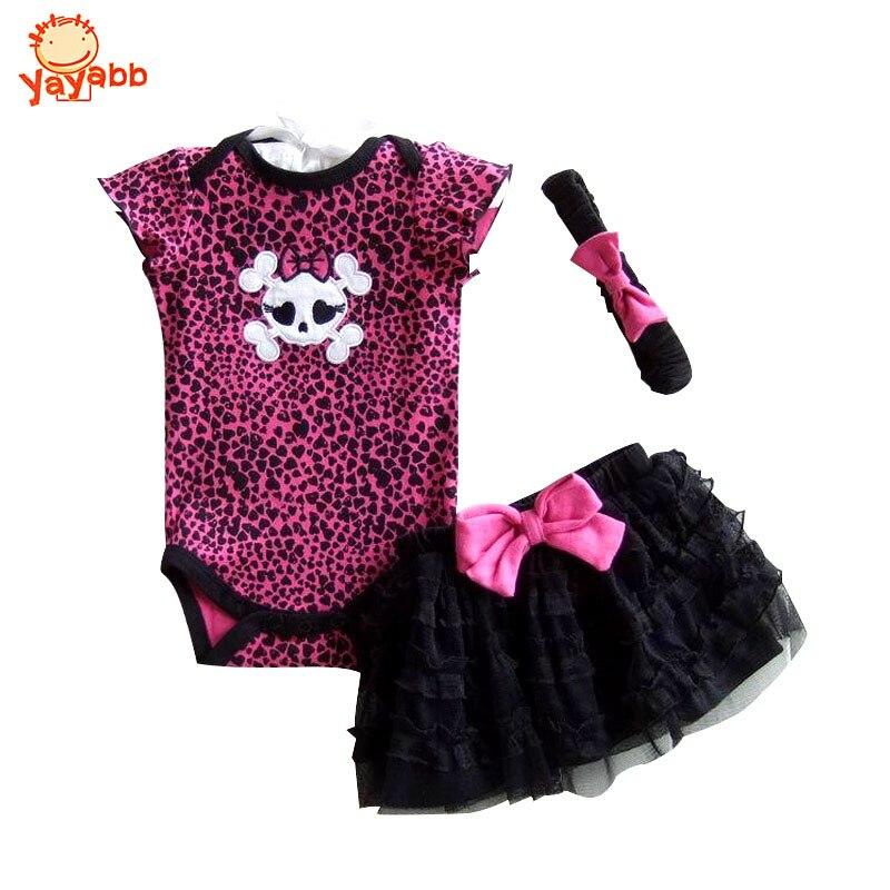 2017 New Fashion Recem Nascido Baby Clothing Set Baby Girl Clothes Romper+Tutu Skirt+Headband Newborn BeBe<br><br>Aliexpress