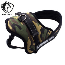 Large Dog Harness Vest 2015 New Pet Products Comfortable  Net Cloth Camouflage 4Colors Pet Harness Professional Dog Chest Straps