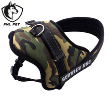 Large Dog Harness Vest 2015 New Pet Products Comfortable Net Cloth Camouflage 4Colors Pet Harness Professional Dog Chest Straps(China)