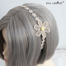 Handmade modern white collar hair accessory rustic hair accessory headband female fashion lace hair band FG-24(China)