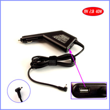 19V 2.1A 40W Laptop Car DC Adapter Charger + USB(5V 2A) for ASUS Eee PC Seashell 1025CE 1025C 1225B 1225C 1015PEG(China)