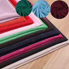 2017New Upscale Home Decor Clothing Material DIY Handmade Sewing 8 Stripes stretch Corduroy Dyeing Fabric Cloth Width150cm(China)