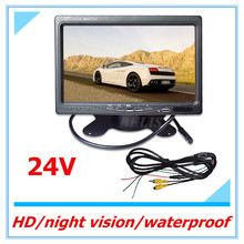 Free shipping  inch 16:9 Car TFT LCD Analog TV Stand Alone Monitor Digital Car Rear view Monitor Camera Car Headrest DVD Player