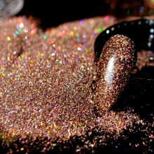 1 Jar 0.2mm Shiny Holographic Nail Glitter Powder Colorful Laser Coffee Dark Brown Glitter DIY UV Nail Art Dust Pigment N57