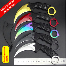 CS GO Tactical Fixed Blade Knife Karambit Combat Pocket Hunting Camping Neck Claw Knife Utility Outdoor Survival Multi Tools(China)