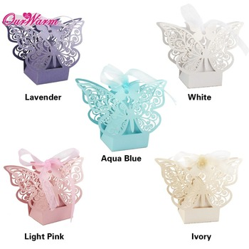 50pcs/lot Candy Box Wedding Gift Butterfly Decorations for Wedding Candy Bag Gifts for Guests Favors Bags Event Party Supplies