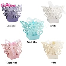 50pcs/lot Butterfly Candy Box Wedding Favors and Gifts Box for Wedding Decoration Supplies Party Favors Bag Event Party Supplies(China)
