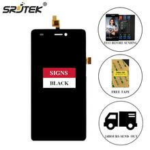 Srjtek For Wiko Highway Signs LCD Display Matrix + Touch Screen Digitizer Full Assembly 5.0'' For Wiko Highway Signs Black/White(China)