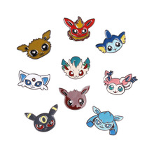Pokemon figures badges brooches & pins pokemon pokeball pins and brooches for men and women cheap brooches for wedding bouquets(China)