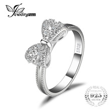 JewelryPalace Bow Anniversary Wedding Ring For Women Soild 925 Sterling Silver Jewelry For Girl Party Friend Gift(China)