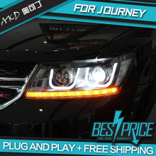 AKD Car Styling Head Lamp for DODGE Journey Fiat Freemont Headlights LED Headlight ANGEL EYES DRL Bi-Xenon Lens HID