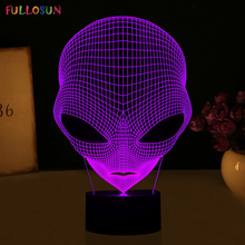 Unique 3D Special Alien Shape LED Table Lamp with USB Power FS-3048(China)