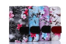 For Nokia Lumia 630 Blooming Flowers Folio Leather Wallet Stand Case for Nokia Lumia 630 / 630 Dual SIM RM-978  Phone Case