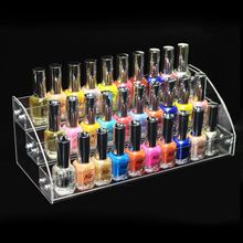 New Fashion Multilayer Clear Acrylic Nail Polish Rack Household Makeup Tool Holder Cosmetic Nail Polish Organize Storage Shelf(China)