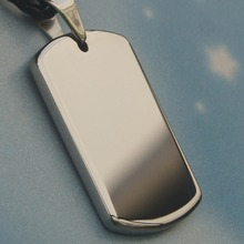 men/women jewelry cool dog tag hi-tech scratch proof tungsten pendant necklace(China)