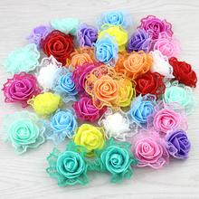 20pieces Foam Lace Rose Artificial Flower For Wedding Decoration DIY Decorative Wreath Fake Flowers(China)