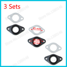 3x 20mm Manifold Carb Intake Pipe Gasket Carburetor For 110cc 90cc 70cc 50cc  ATV Quad Pit Dirt Bike