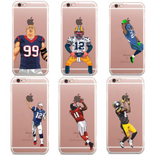 American Football Odell beckham jr Gronk Cam Newton printed Phone Cover Cases For iPhone X SE 5 5s 6 6s Plus 7 7Plus 8 8Plus(China)