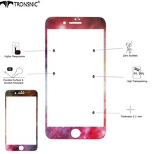 Tronsnic for iPhone 6 6s plus 7 plus 9H Milky Way Tempered Glass Starry Sky Space Black Shiny Star AntiScratch Screen Protector(China)