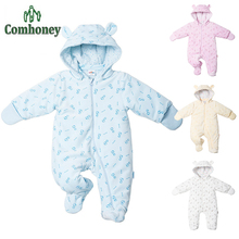Baby Rompers Costume Winter Jumpsuit Fleece Romper For Boys Clothes Warm Newborn Baby Girls Clothing Infant Bebe Costumes