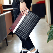 Tidog The trend of hand woven bag color envelope hand bag clutch bag