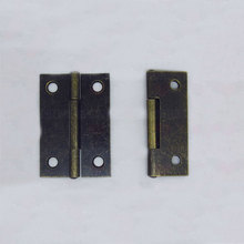 antiqued small Furniture hinge 50*34*1.0 double-hole Bronze hinges Arts and crafts accessories 20pcs