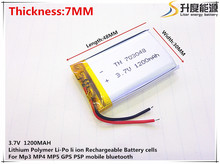 3.7V 1200mAh 703048 Lithium Polymer Li-Po li ion Rechargeable Battery cells For Mp3 MP4 MP5 GPS PSP mobile bluetooth