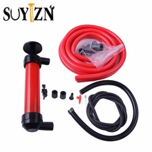 Portable Hand Oil Pump 200cc 5 L/min Car Tire Water Oil Fuel Change Transfer Gas Liquid Pipe Siphon Tool Air Pump Kit ZK218