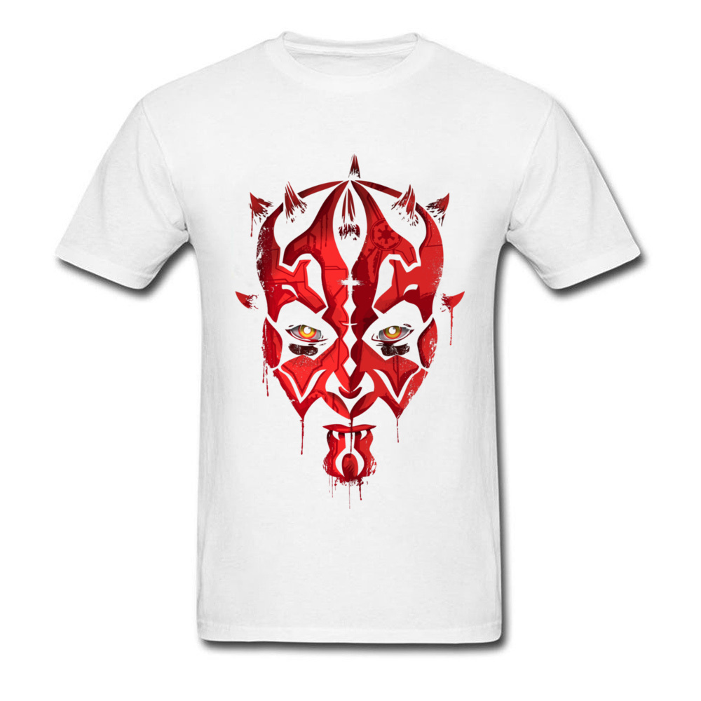 Darth Maul Emerges Summer 100% Cotton Round Neck Tees Short Sleeve Design Clothing Shirt Rife Unique Top T-shirts Darth Maul Emerges white