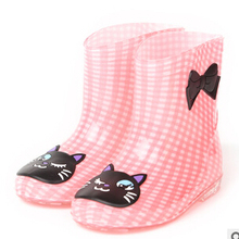 2017 new fashion Kids Children's rain boots cut Baby shoes Boys and Girls rain boots seasons fashion water shoes